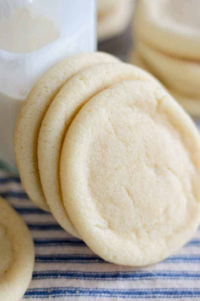 Buttery and sweet, these are the best sugar cookies out there! One bowl and no chilling required, this cookie recipe is so easy to make.