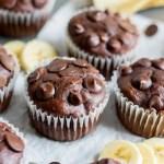 Chocolate Banana Blender Muffins [Gluten Free]
