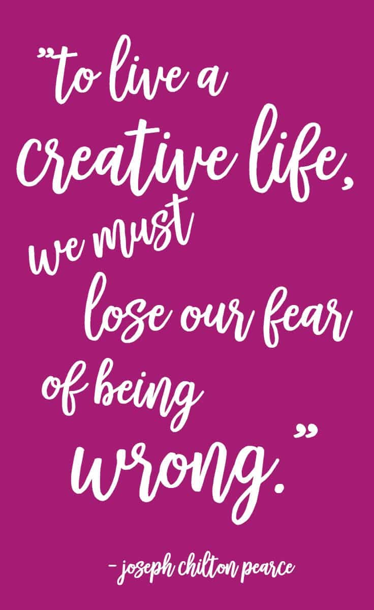 Courageous creativity challenge! Step out in faith and find yourself by pushing yourself to creative something new. It will brighten your day and inspire others to do the same.