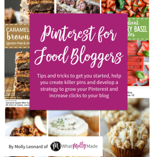The BEST Pinterest tips and tricks for food bloggers! This complete guide to getting started, developing a strategy and ultimately growing you followers and increasing clicks to your blog. The tips and strategies in the eBook have helped me average 15 new followers a day and over doubled traffic to my blog! Some of the sections we'll cover include: Step-by-step process to setting up a business account The secret trick to find Pinterest keywords The types of food photography that perform the best A year long Editorial calendar to know when to post and pin recipes A guide to group boards The best posting strategy and scheduling tools An in-depth guide on analytics and how to use them to sky rocket growth Plus so much more! With almost 50 pages of easy action steps and simple guides, this ebook will leave you pinning like a pro! You'll gain followers, reach more people and drive valuable traffic to your site.