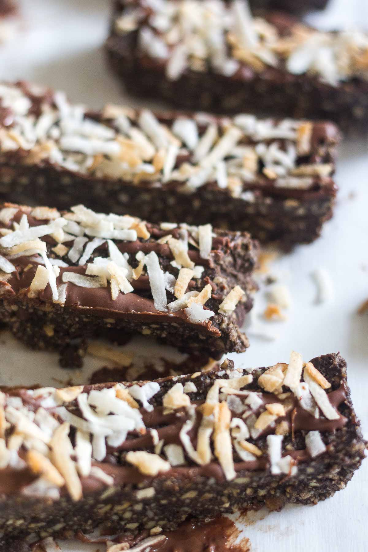 no bake coconut protein bars with chocolate and collagen