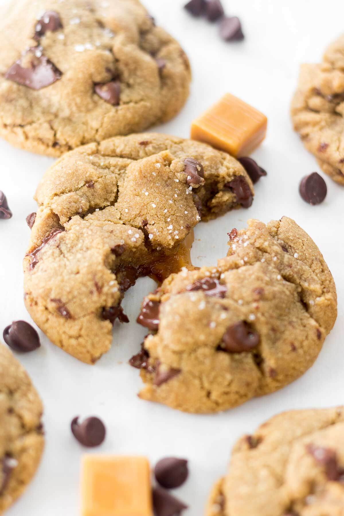 salted caramel cookies recipe