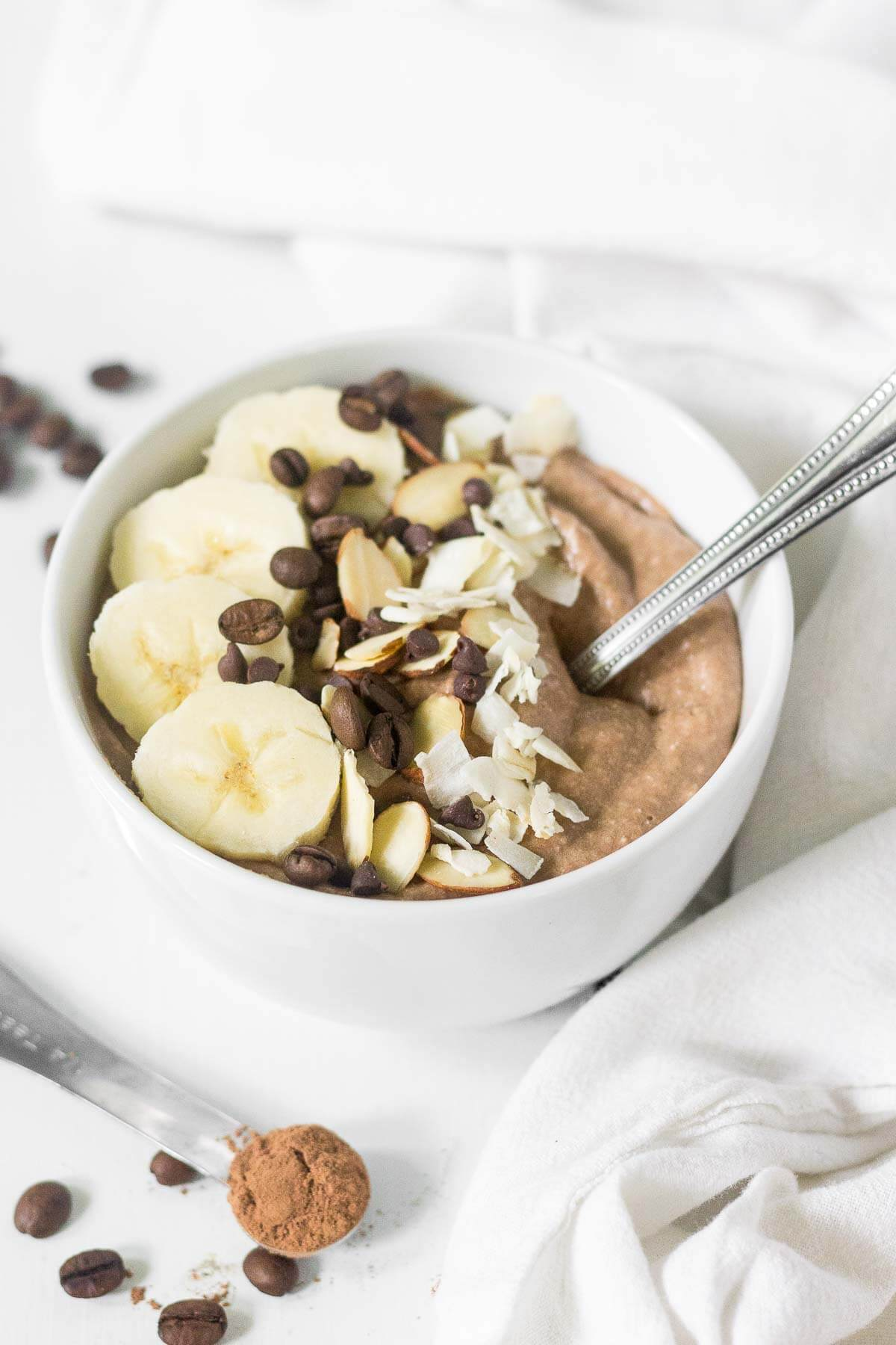 Mocha Protein Smoothie Bowl What Molly Made