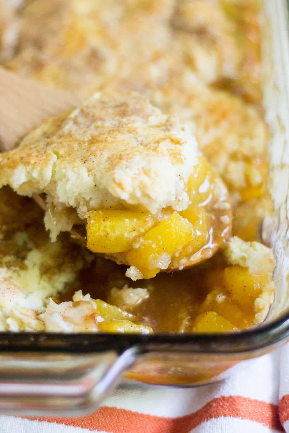 gluten free peach cobbler recipe
