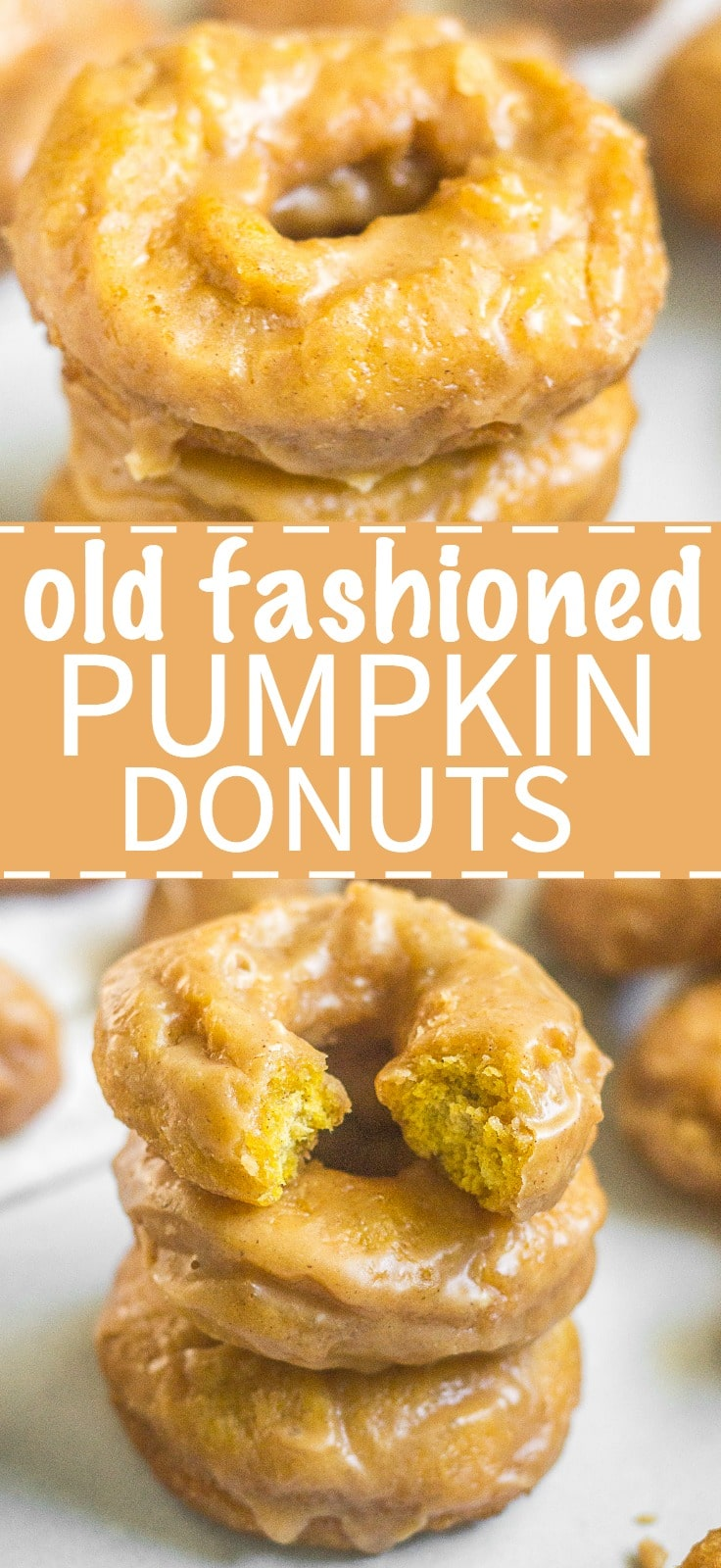 Get ready for these homemade old fashioned pumpkin donuts! They're cake like, filled with pumpkin spice and melt in your mouth. The sour cream and pumpkin puree make for a tasty breakfast recipe. Read more to learn how to make old fashioned pumpkin donuts!