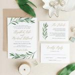 Wedding Invitation Tips and 10 Greenery Wedding Invitation Ideas