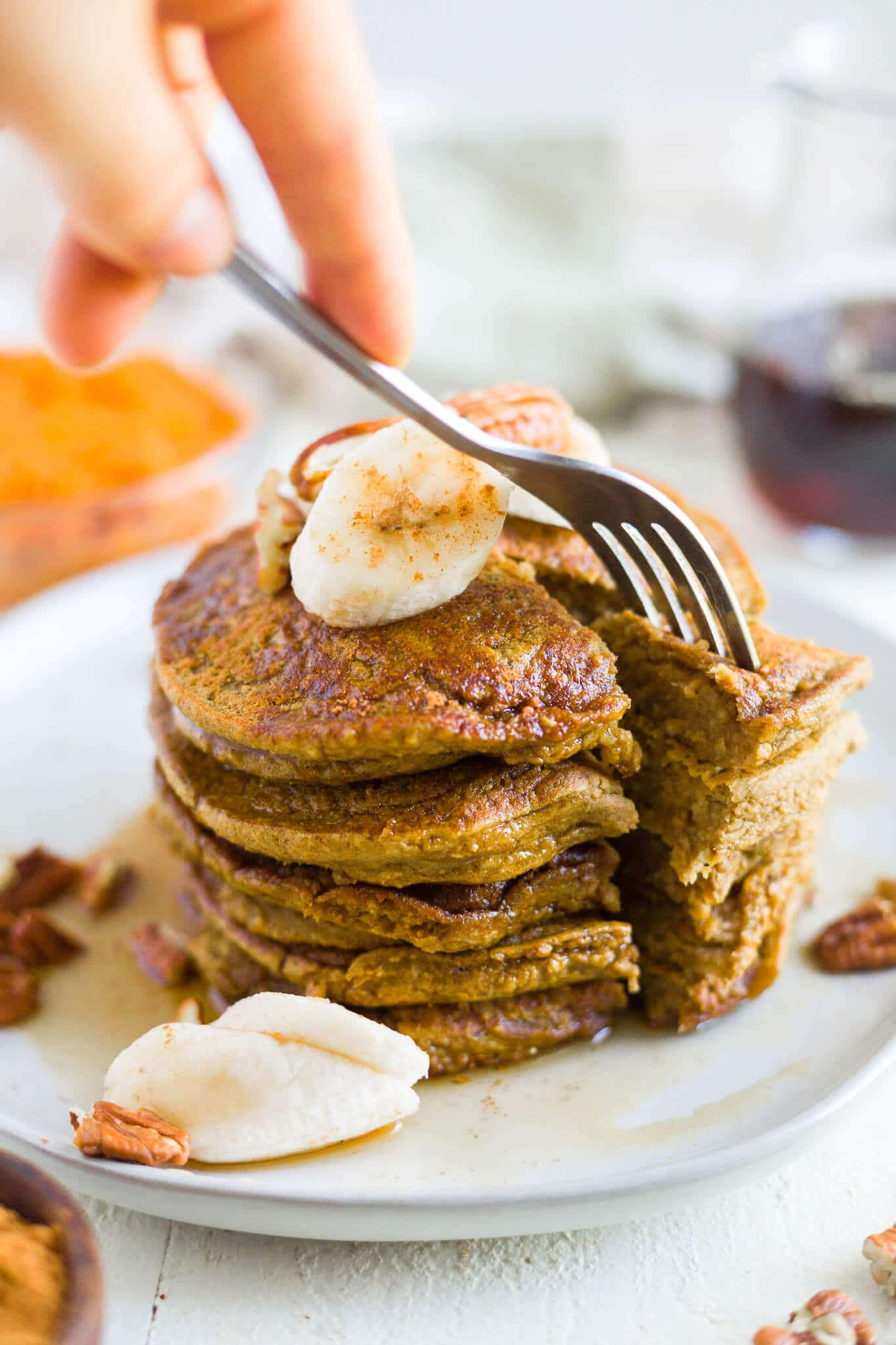 healthy pumpkin pancakes recipe