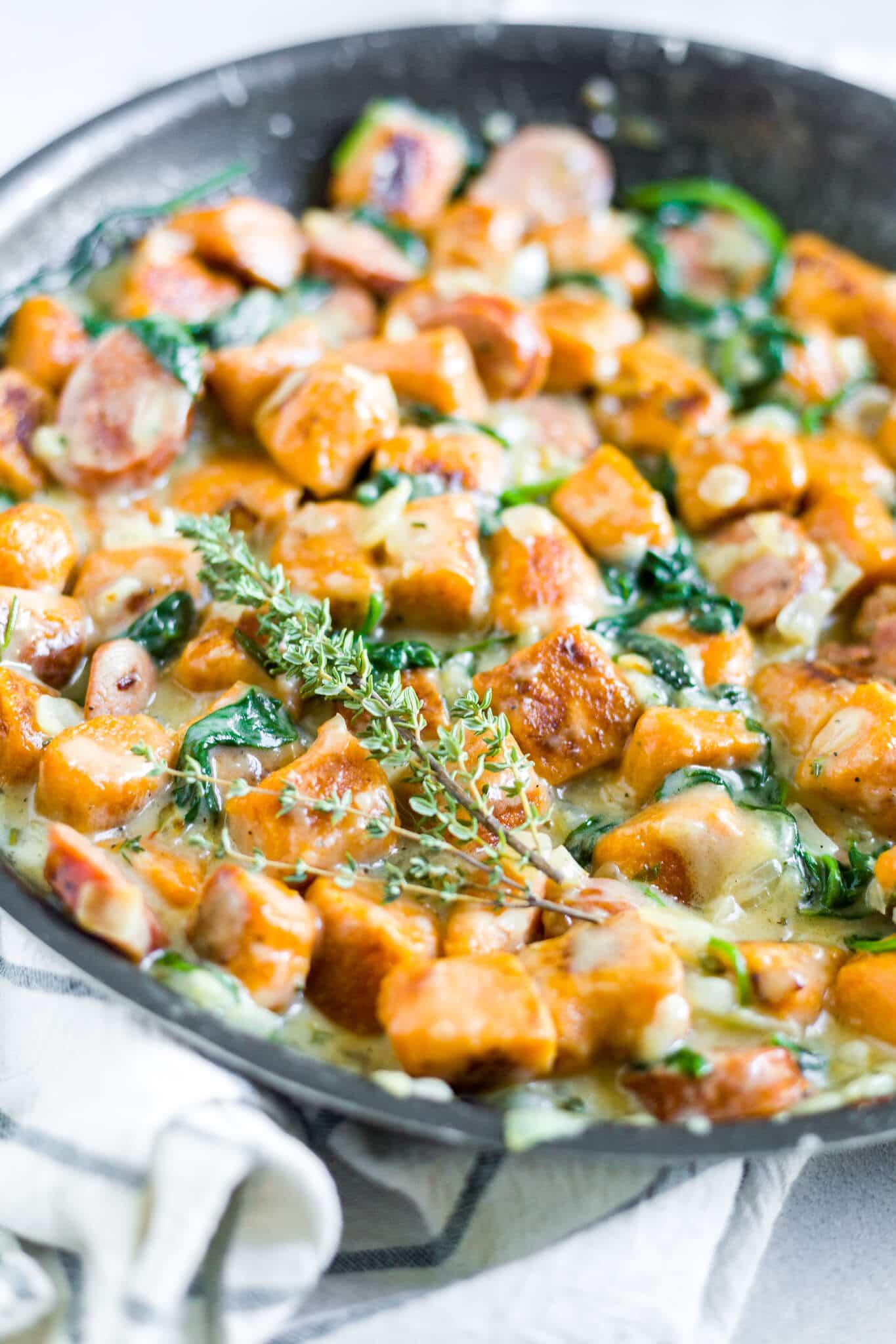 sweet potato gnocchi sauce