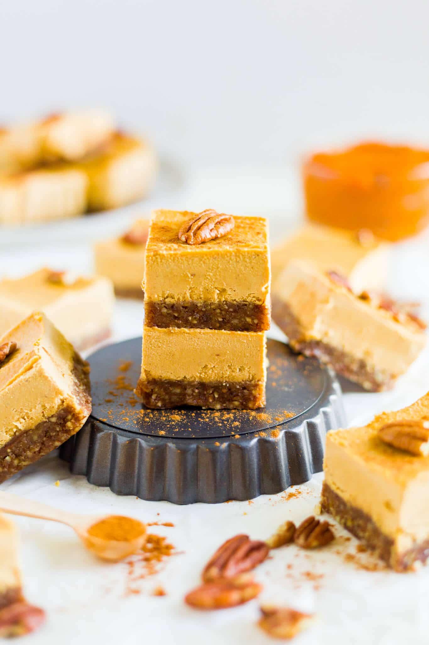 easy vegan pumpkin cheesecake
