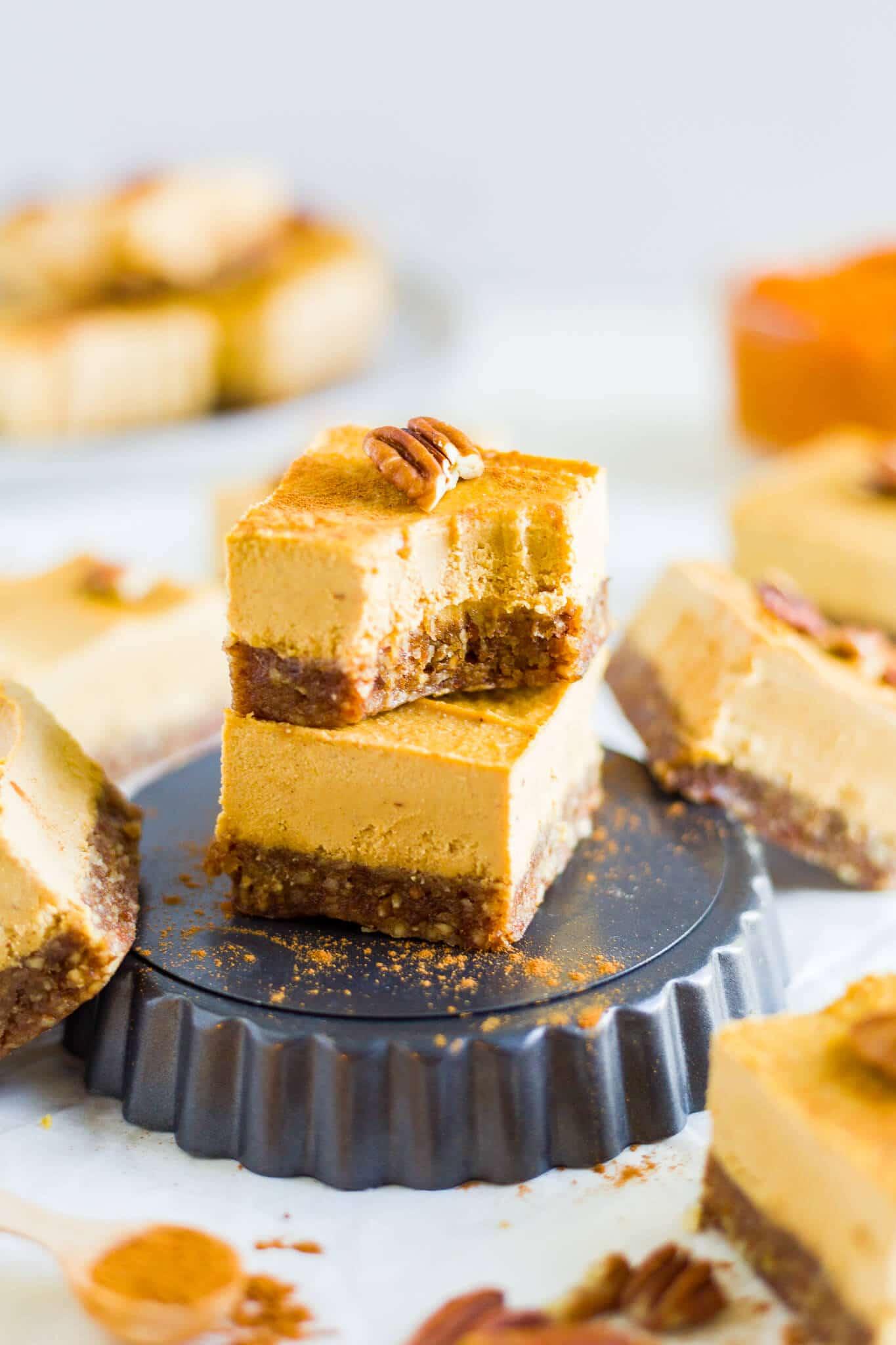 no bake vegan pumpkin cheesecake