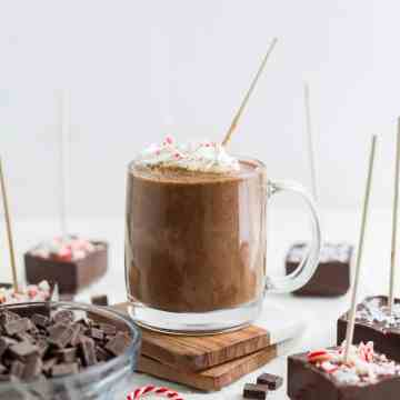 hot chocolate on a stick
