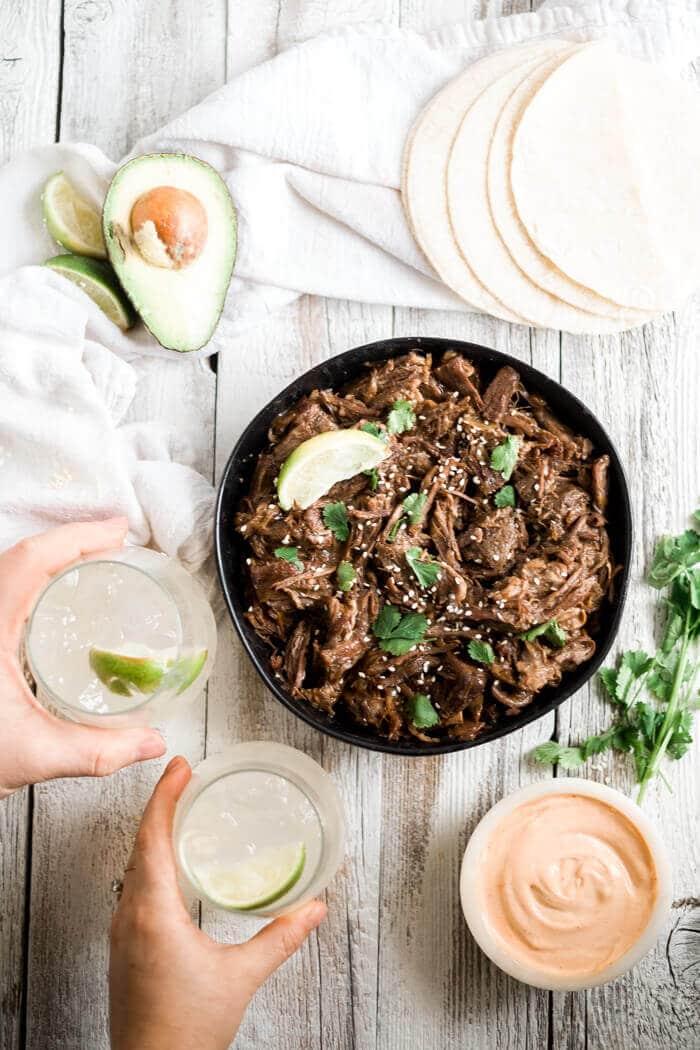 shredded beef taco crock pot