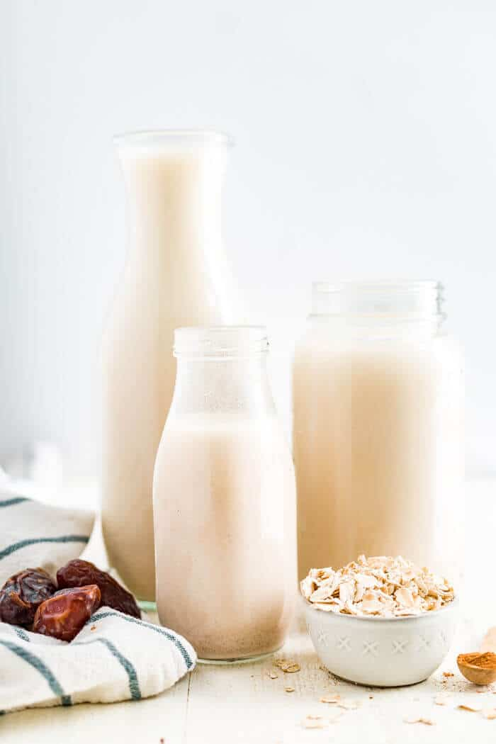 three jars of oat milk recipe