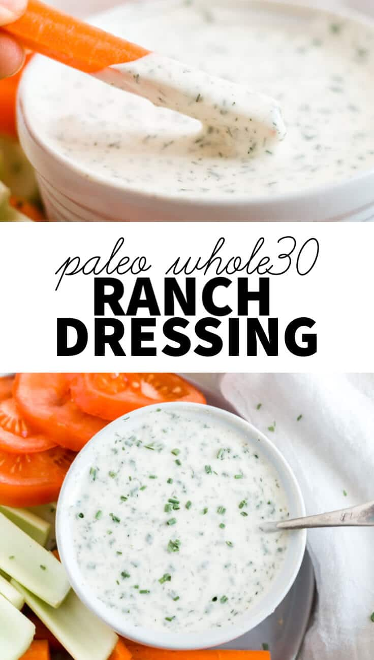 whole30 ranch dressing collage images