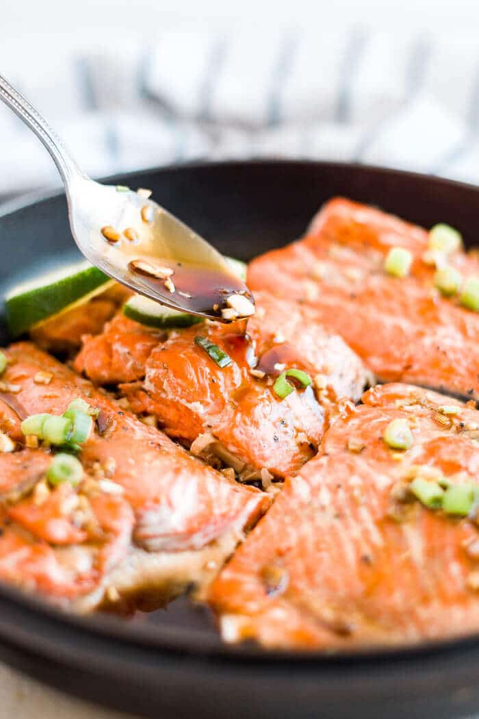 drizzle honey glaze on baked salmon recipe