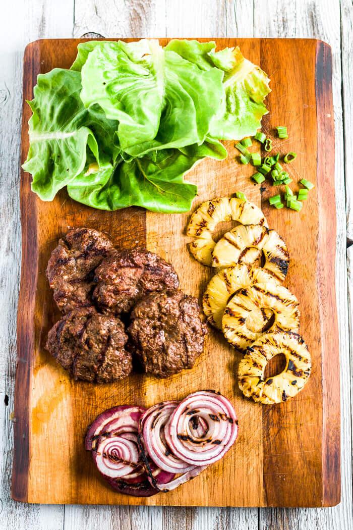 ingredients for teriyaki burgers