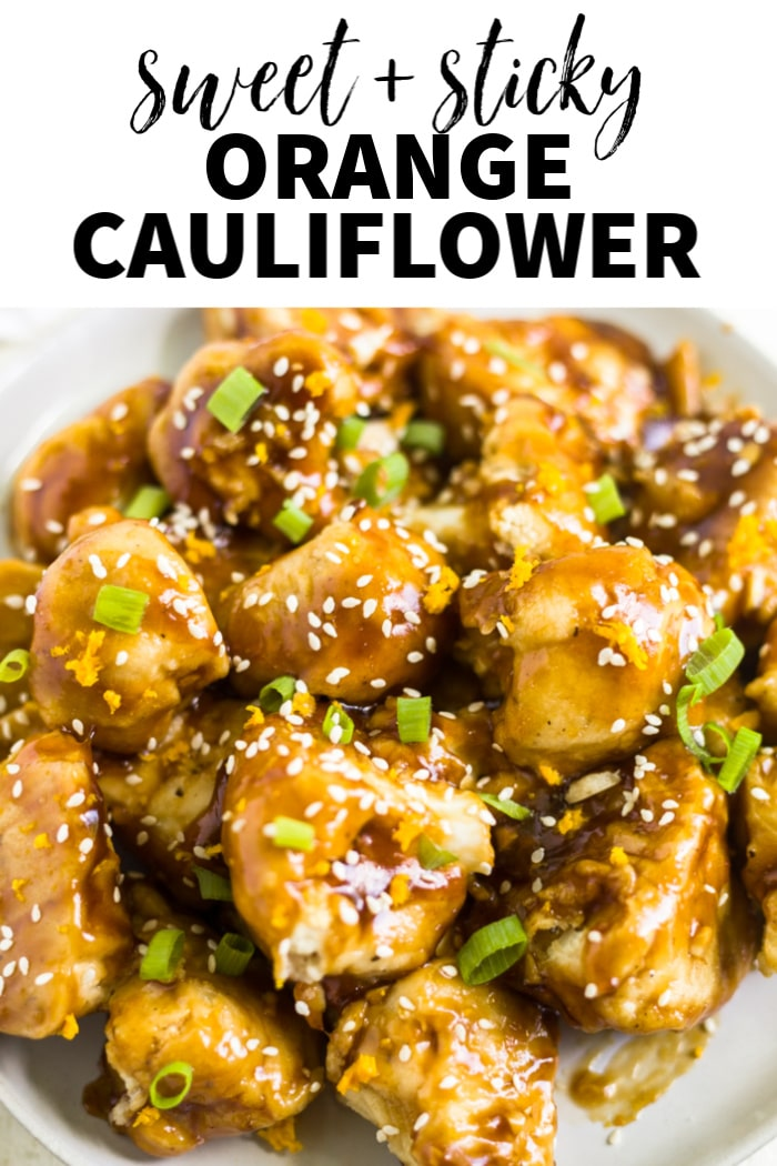sweet and sticky orange cauliflower