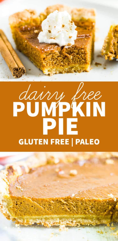 dairy free pumpkin pie