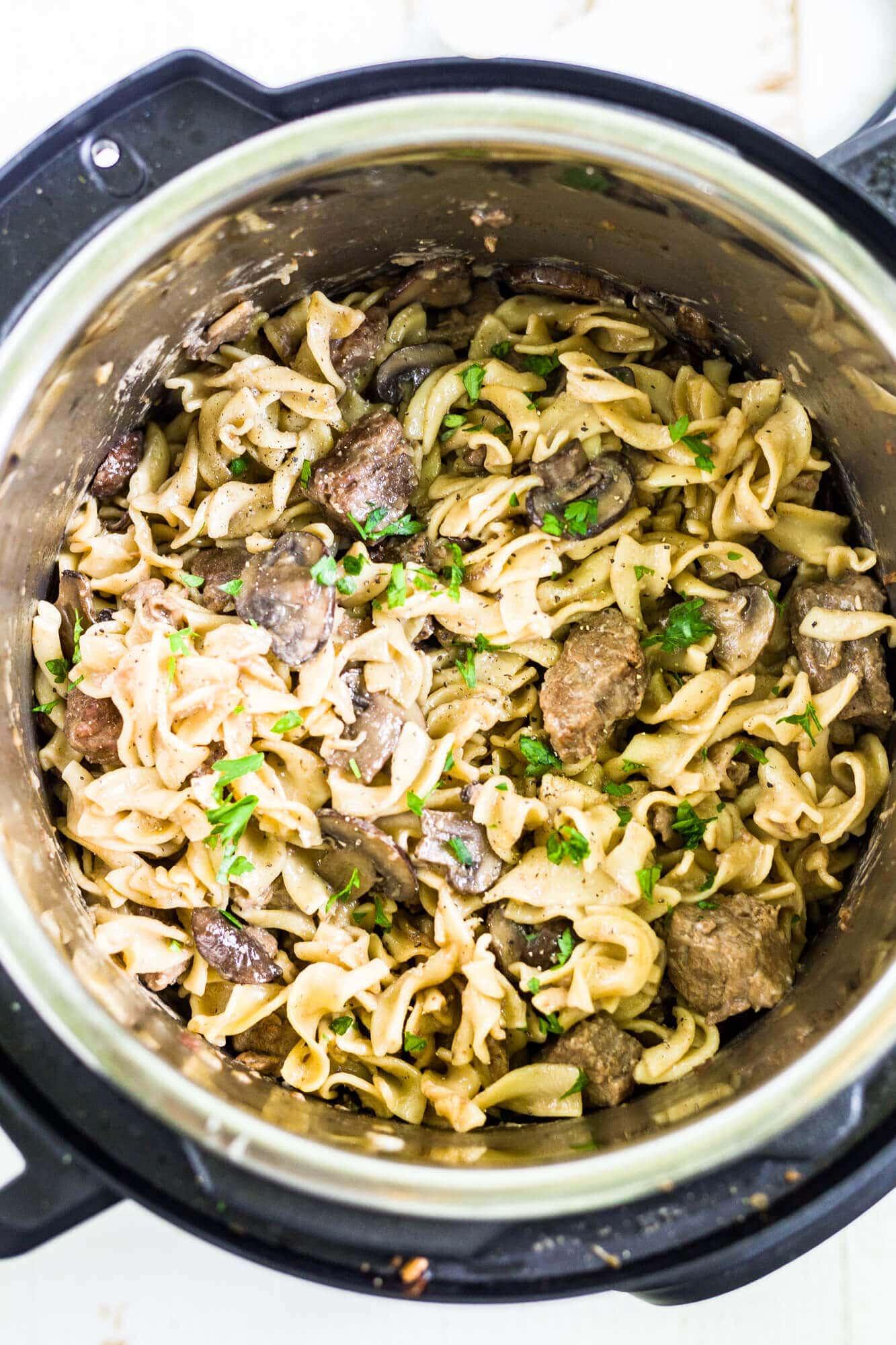 beef stroganoff instant pot