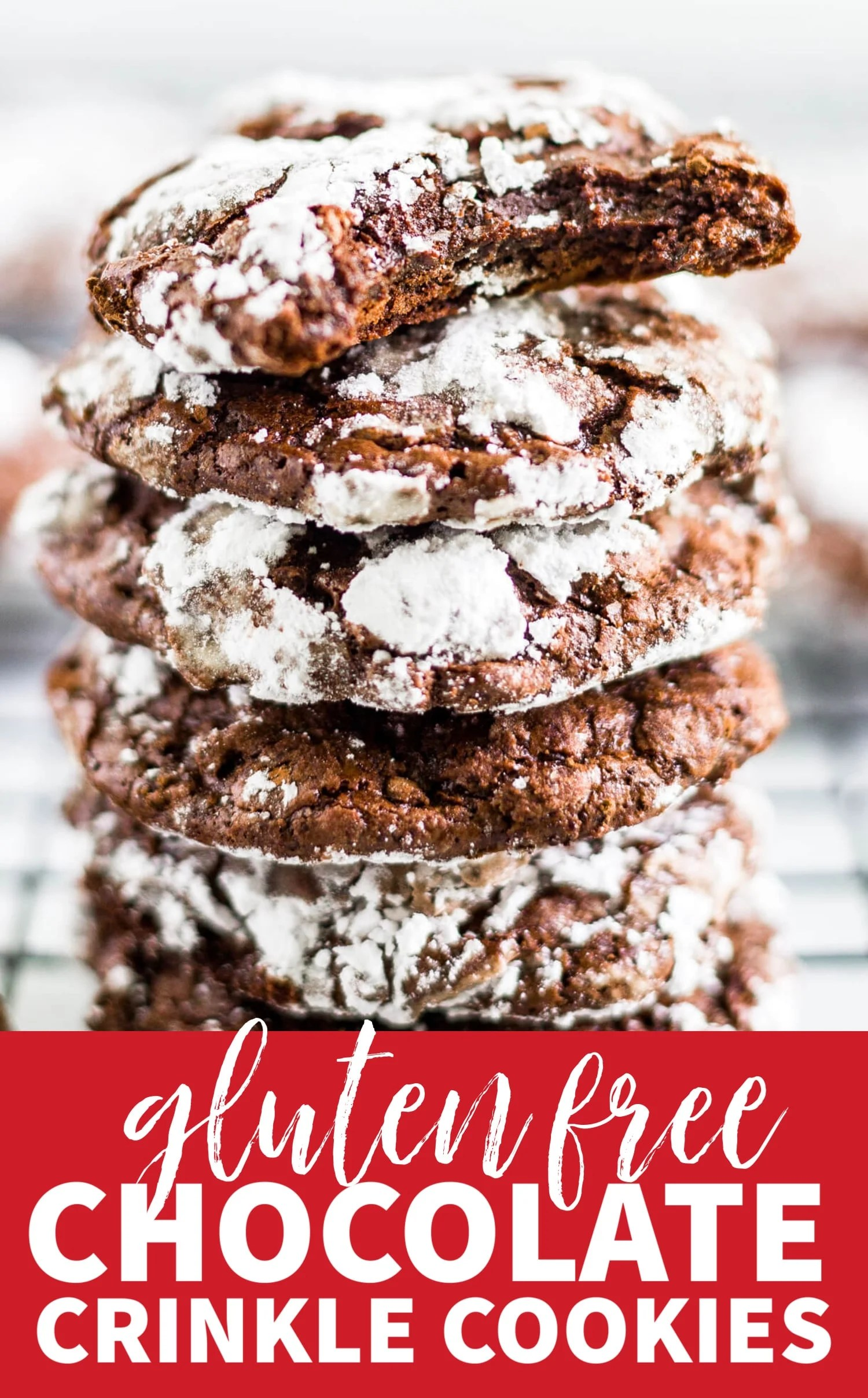 gluten free chocolate crinkle cookies christmas