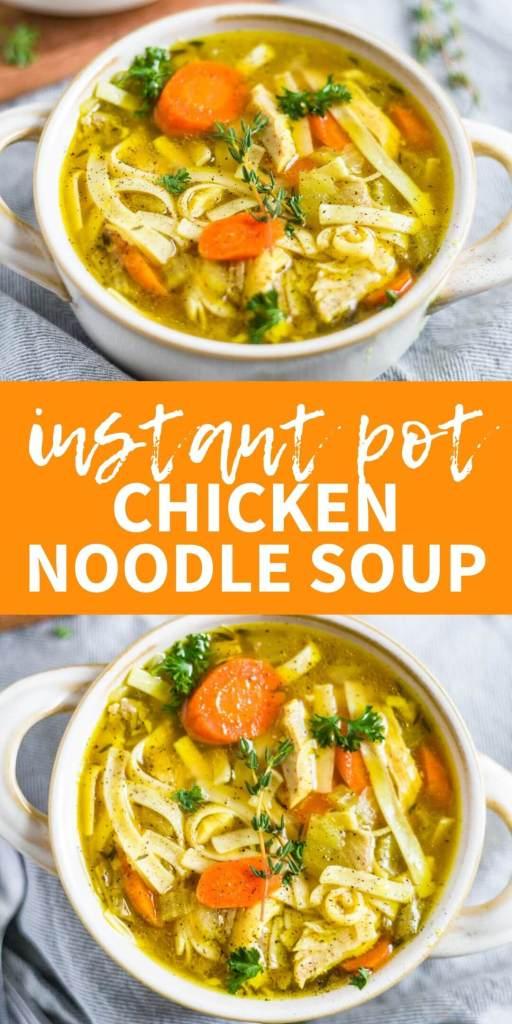chicken noodle soup instant pot