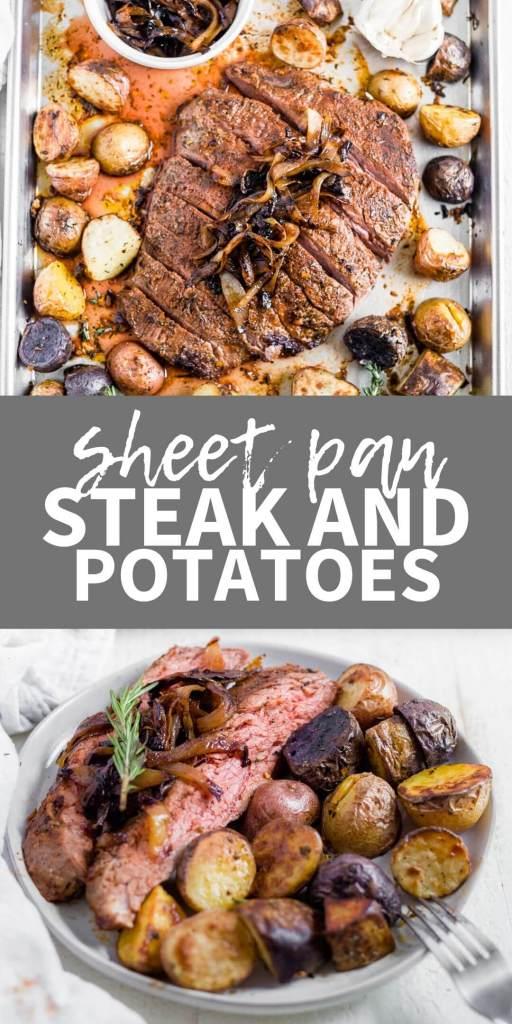 sheet pan steak and baby potatoes