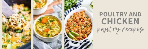 pantry recipes made with chicken