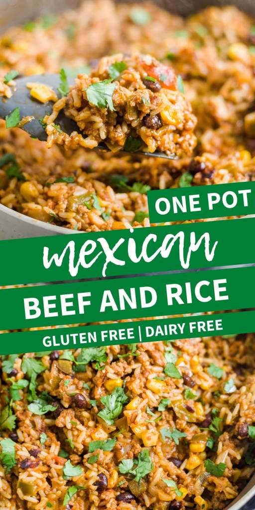 one pot mexican beef and rice pin