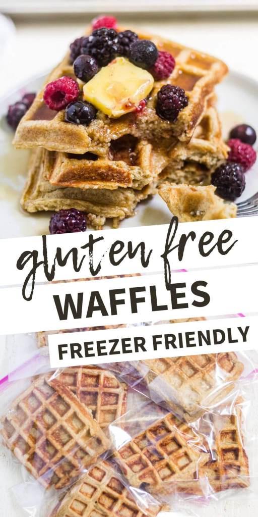 gluten free waffles pin image