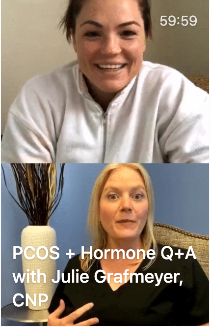 screenshot of a pcos q+a with a doctor
