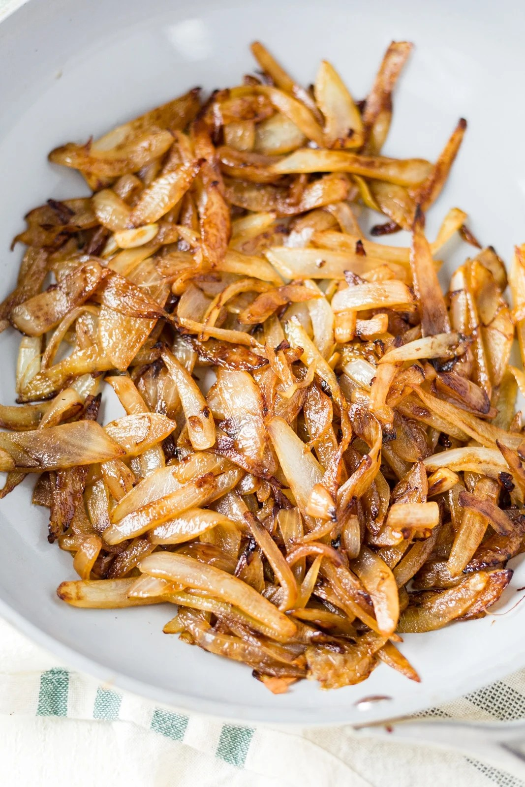 caramelized onion in a pan