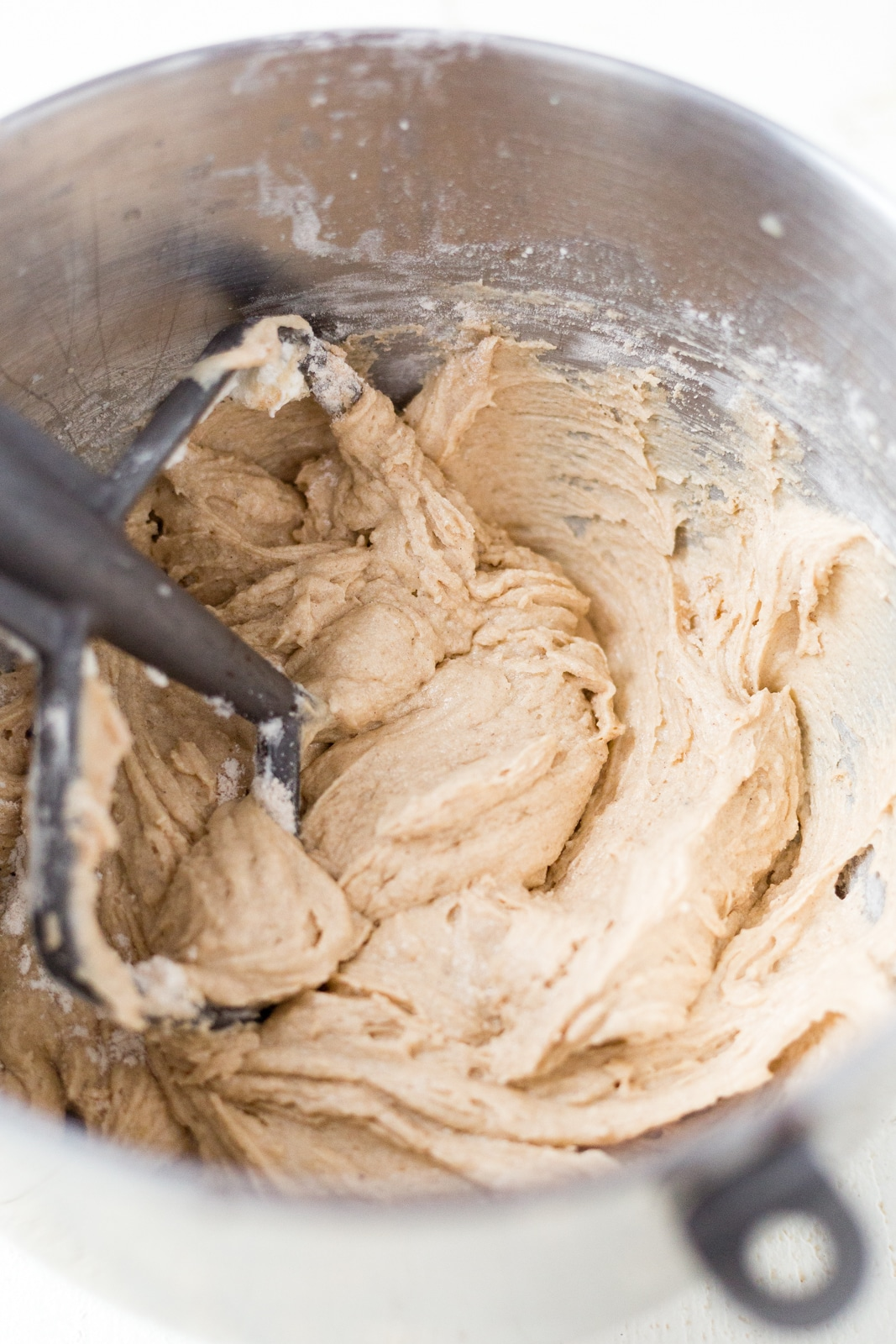 whoopie pie cookie batter in a stand mixer