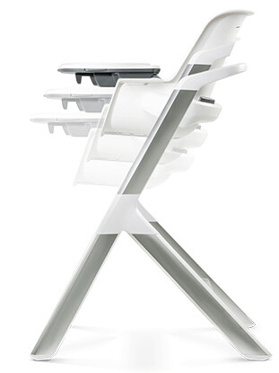 4moms high chair review - height and tray adjust
