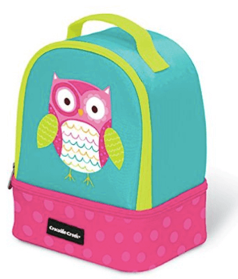 Crocodile Creek Eco Kids Owl Insulated Two Compartment Lunch Bag
