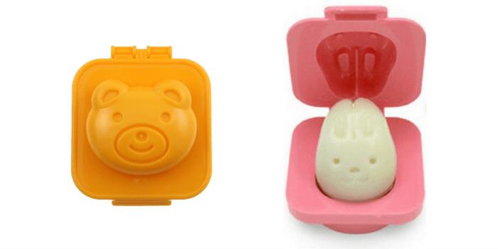 JapanBargain Egg plate set Rabbit Bear Shape