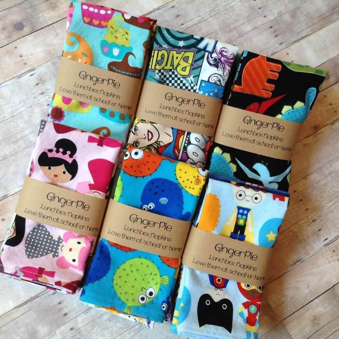 GingerPie Handmade Cloth Napkins