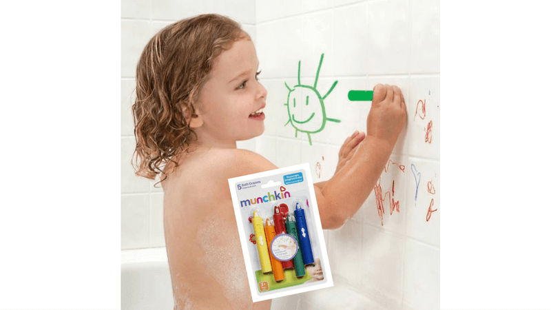 Best Non-Toy Gifts for Kids - bath crayons