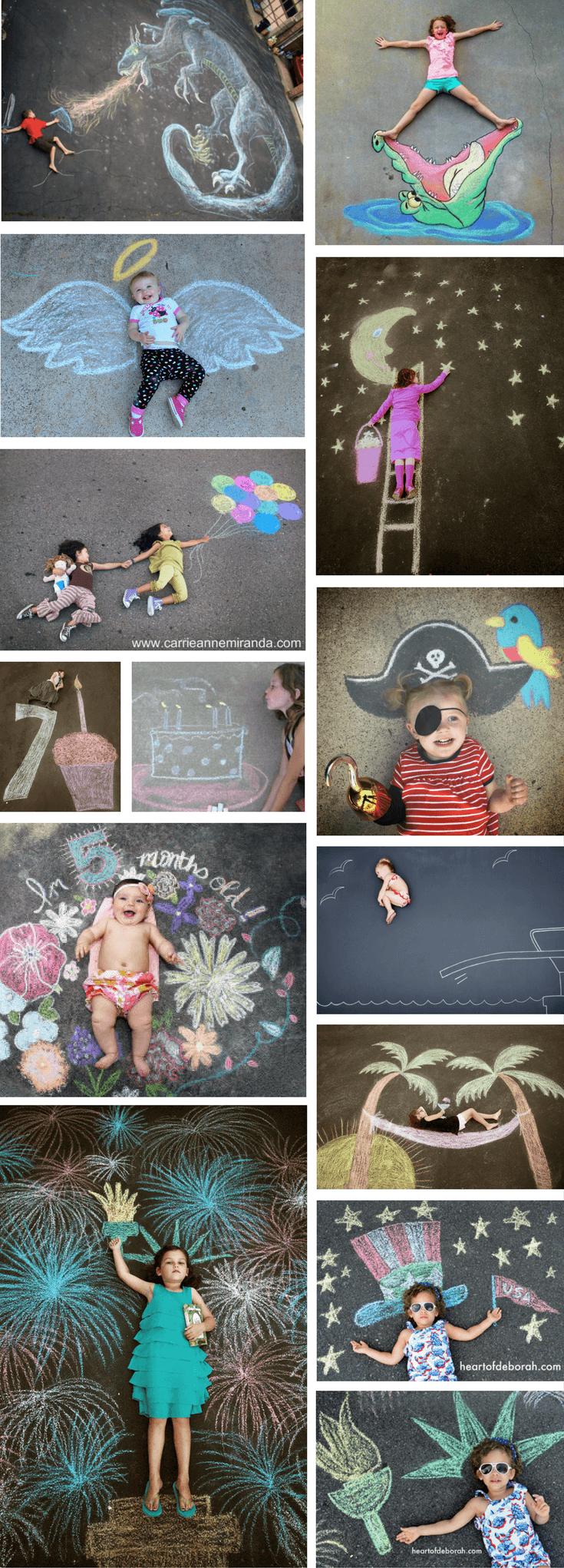 Easy Sidewalk Chalk Art Ideas For Kids