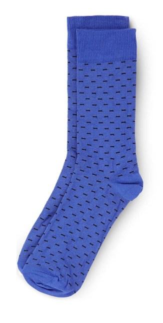 blue poker square socks