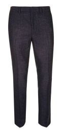 NAVY FLECK SKINNY FIT SUIT PANTS
