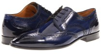 Blue and black brogues