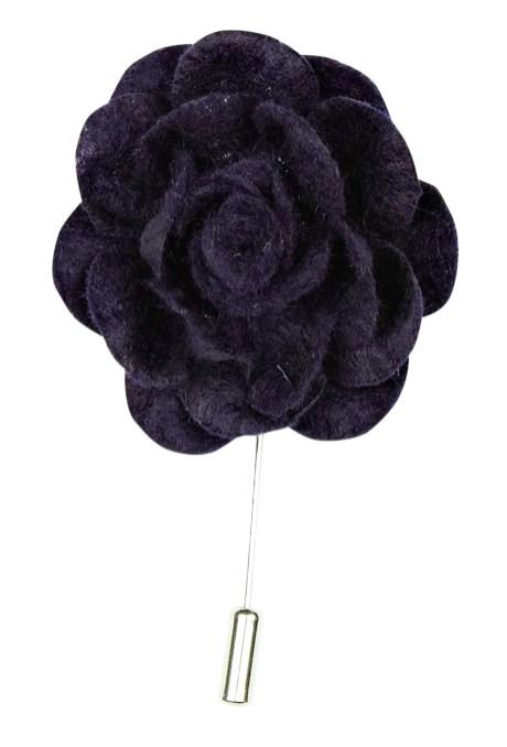 navy lapel flower