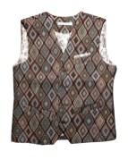 Men's Vintage Diamond Waistcoat