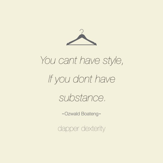 Dapper dexterity - substance