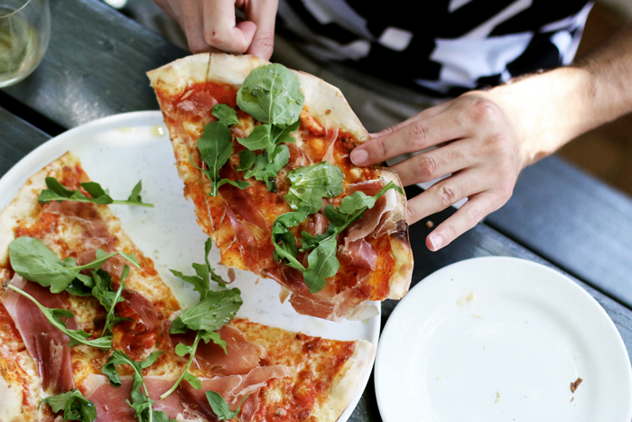 Parma-pizza