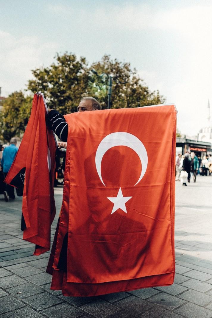 Istanbul-Taksim-Square-Turkish-Flag