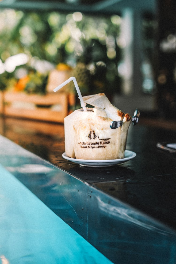 Thailand-Phuket-Poolside-coconut