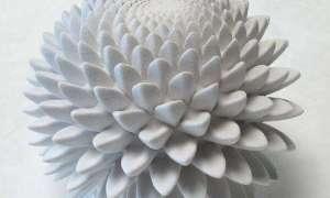 Wprawione w ruch wydrukowane w 3D rzeźby Fibonacciego