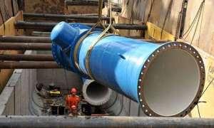 Turbiny w rurach z wodą są źródłem energii w Portland