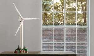 Oto turbina wiatrowa zbudowana z klocków Lego